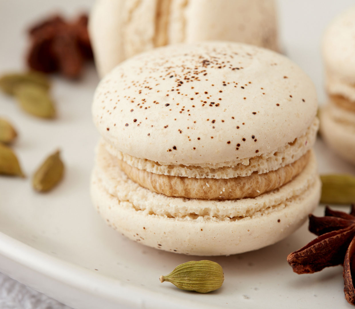 Macaroons photographed by professional food and beverage photographer Kate Benson.